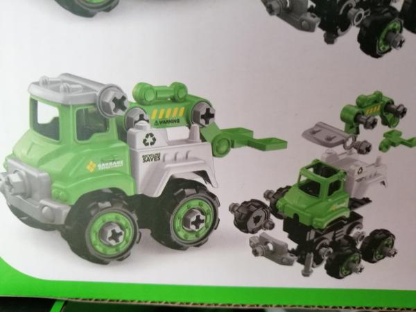 Masinuta de asamblat Masina de gunoi - Masina de pompieri 3