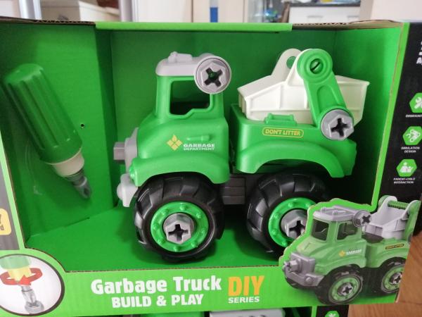 Masinuta de asamblat Masina de gunoi - Masina de pompieri 0