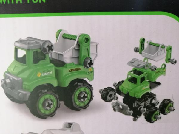 Masinuta de asamblat Masina de gunoi - Masina de pompieri 1