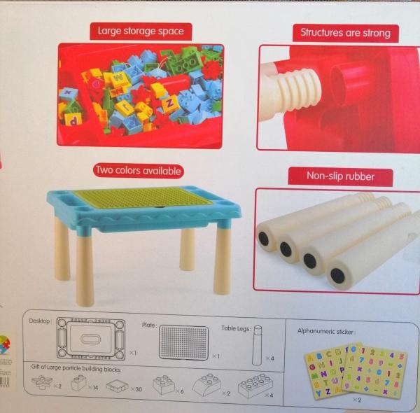 Masuta 3 in 1 tip Lego cu 60 piese 1