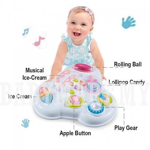 Masuta cu activitatii multifunctionala bebe 2 in 1 [2]