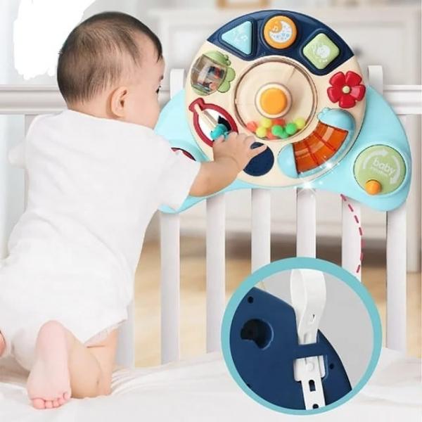 Masuta activitatii bebelusi  multifunctionala 2 in 1 4