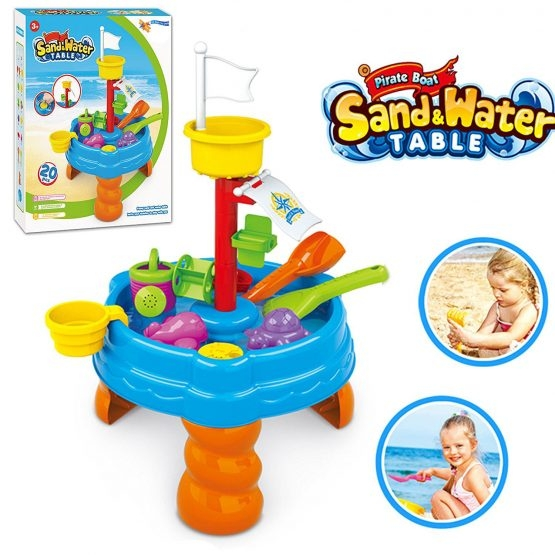 Masuta de joaca cu apa si nisip cu 20 piese 0