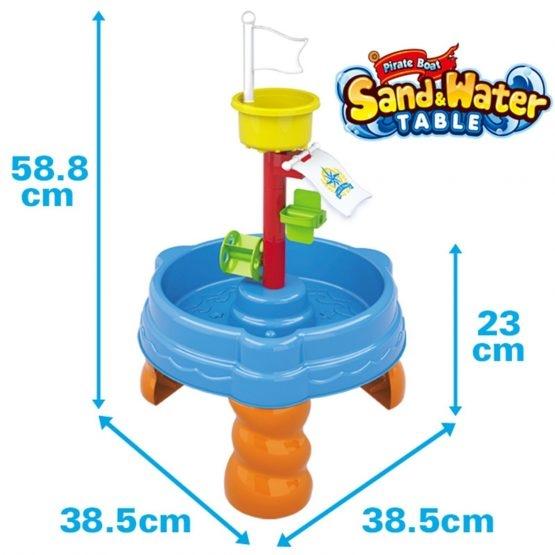 Masuta de joaca cu apa si nisip cu 20 piese 1