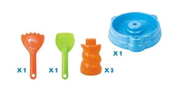 Masuta de joaca cu apa si nisip cu 20 piese 5