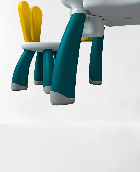 Masuta tip lego duplo cu scaun Iepuras 100 piese mari 13