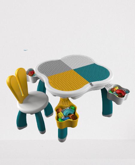 Masuta tip lego duplo cu scaun Iepuras 100 piese mari 11