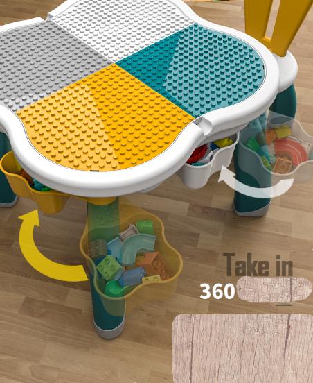 Masuta tip lego duplo cu scaun Iepuras 100 piese mari 19