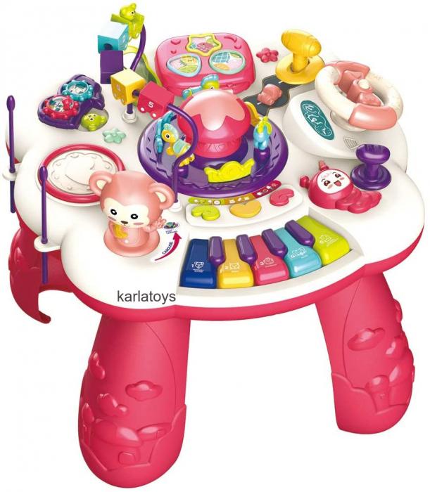 Masuta Interactiva Bebe cu activitati de invatare sunete si lumini [0]