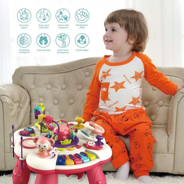 Masuta Interactiva Bebe cu activitati de invatare sunete si lumini [3]