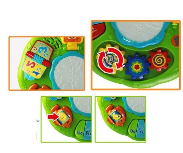 Masuta multifunctionala 2 in 1 Activitati Bebe Green Fun 2