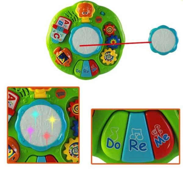 Masuta multifunctionala 2 in 1 Activitati Bebe Green Fun 3
