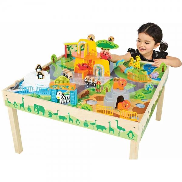 Masa de joaca din lemn Gradina zoologica 0
