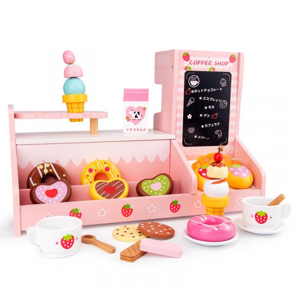 Stand  Lemn Cafenea pentru copii - Mini Magazin deserturi si cafea 3