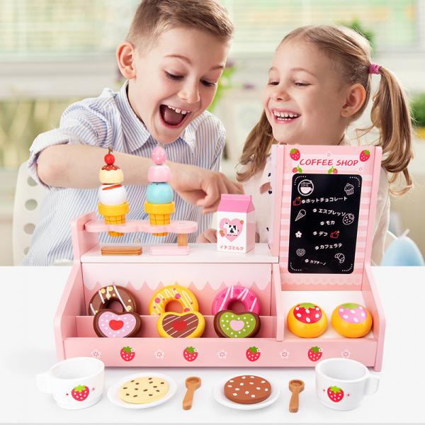 Stand  Lemn Cafenea pentru copii - Mini Magazin deserturi si cafea 2