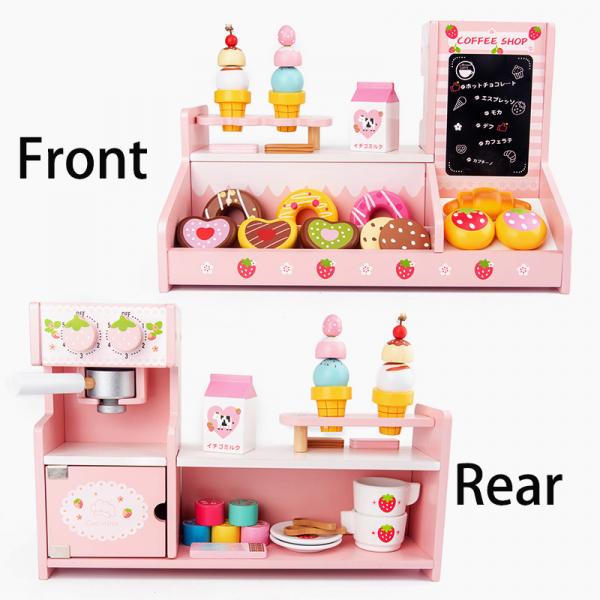 Stand  Lemn Cafenea pentru copii - Mini Magazin deserturi si cafea 1