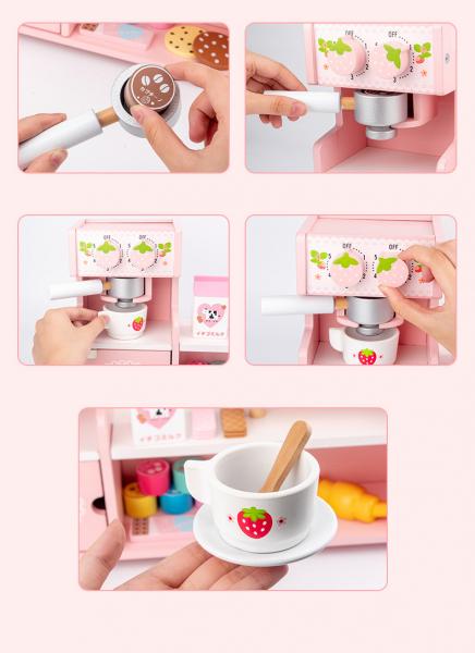 Stand  Lemn Cafenea pentru copii - Mini Magazin deserturi si cafea 6