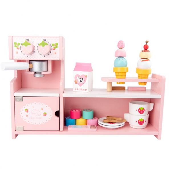 Stand  Lemn Cafenea pentru copii - Mini Magazin deserturi si cafea 0