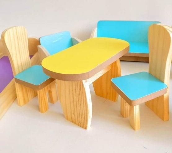 Set Mobilier din lemn pentru papusi dora 2