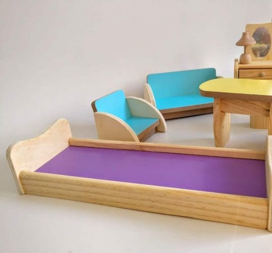 Set Mobilier din lemn pentru papusi dora [4]