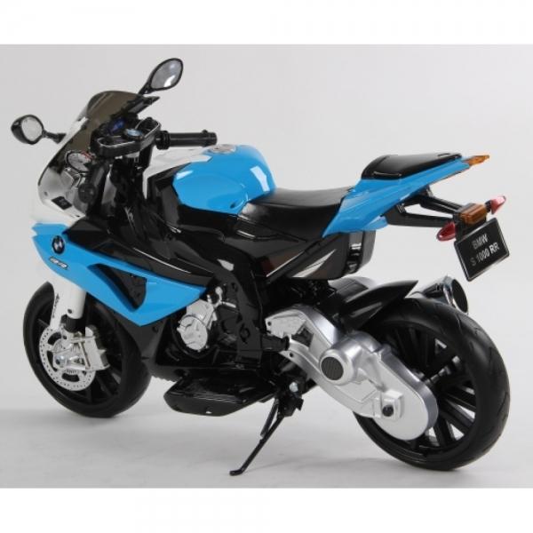 Motocicleta Bmw 12 v cu roti ajutatoare pentru copii 4