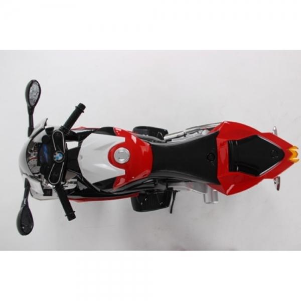 Motocicleta Bmw 12 v cu roti ajutatoare pentru copii 9