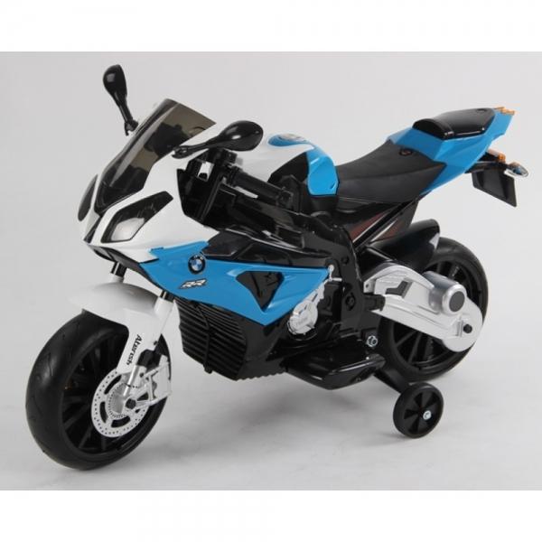 Motocicleta Bmw 12 v cu roti ajutatoare pentru copii 2