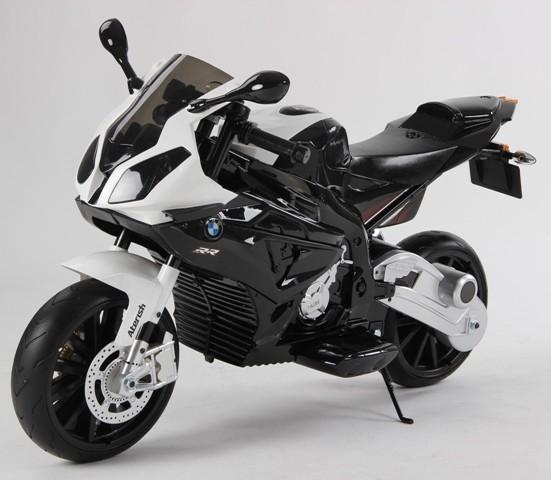 Motocicleta Bmw 12 v cu roti ajutatoare pentru copii 0
