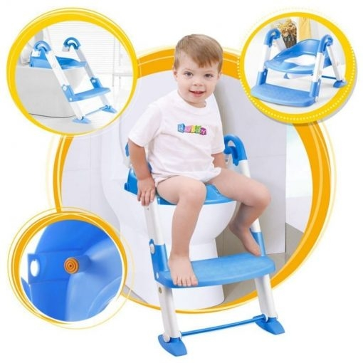 Scaun cu scarita toaleta pentru copii 3 in 1 0