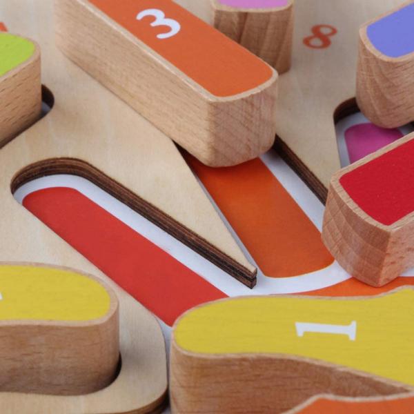 Joc Puzzle Lemn Montesorii 3D Palma - Puzzle Lemn 3D Numarul Degetelor 2