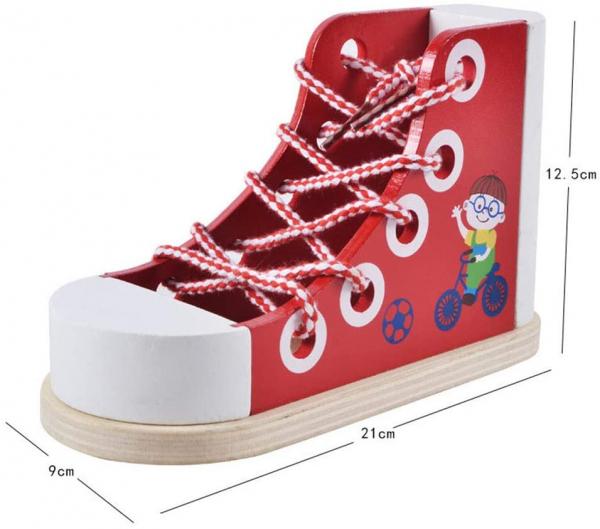 Joc Educational din Lemn - Invatam sa Legam Siretul Sneaker 2