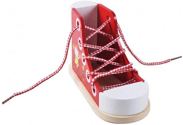 Joc Educational din Lemn - Invatam sa Legam Siretul Sneaker 1