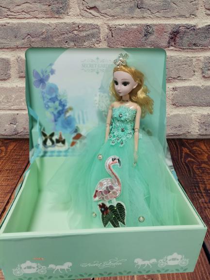 Papusa Muzicala rotativa in cutie cadou Little Princess 3