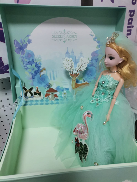 Papusa Muzicala rotativa in cutie cadou Little Princess 6