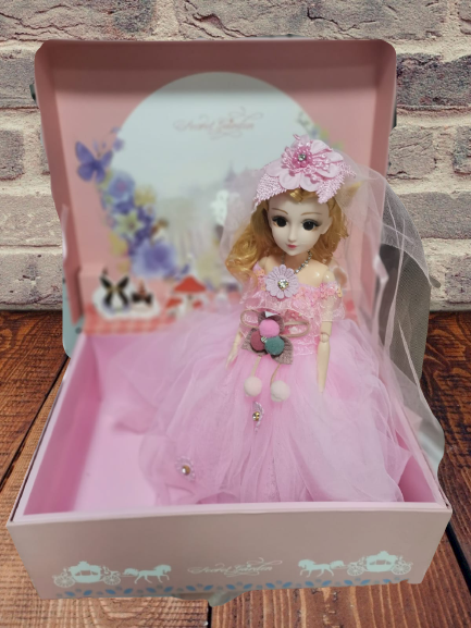 Papusa Muzicala rotativa in cutie cadou Little Princess 2