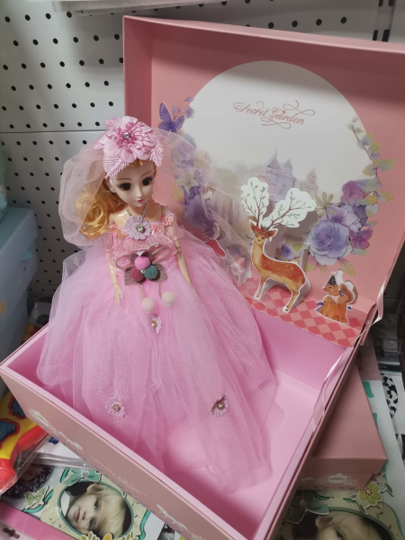Papusa Muzicala rotativa in cutie cadou Little Princess 7