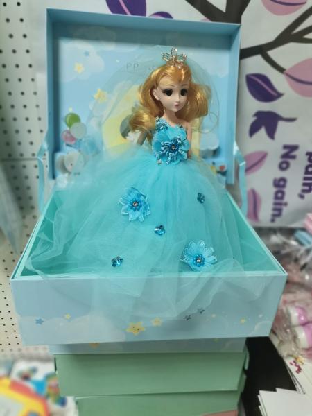 Papusa Muzicala rotativa in cutie cadou Little Princess 8
