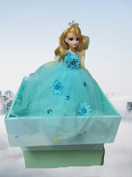 Papusa Muzicala rotativa in cutie cadou Little Princess 4