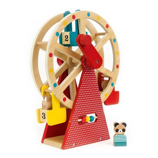 Jucarie de lemn Roata Ferris 0