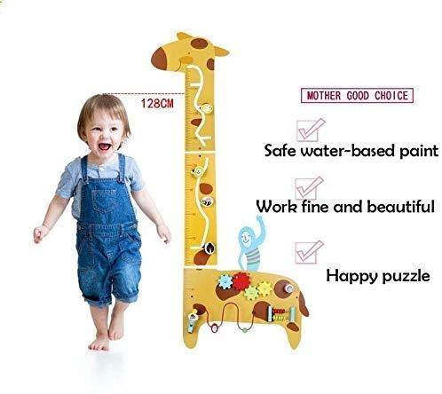 Placa de masurat din lemn Girafa cu activitatii copii 3