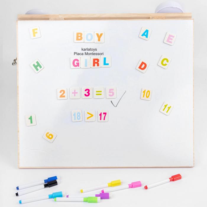 Placa din lemn Montessori Senzoriala Incuietori Busy Board 2 in 1 [3]