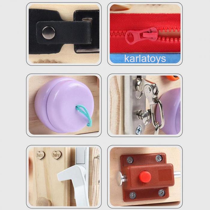 Placa senzoriala Montessori incuietori Busy Board [2]
