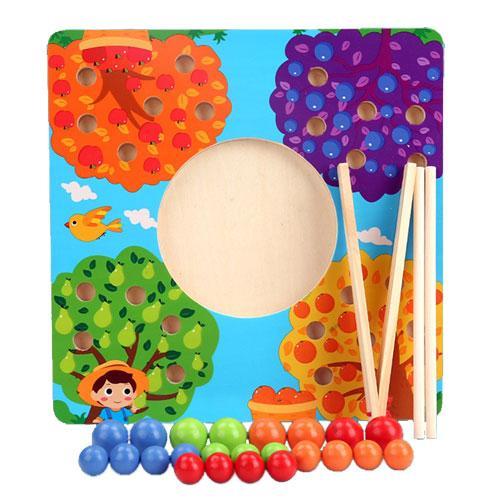Joc de Lemn Montessori Sortator culori Pomul Fructifer 0