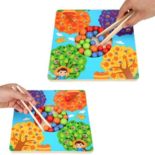 Joc de Lemn Montessori Sortator culori Pomul Fructifer 2