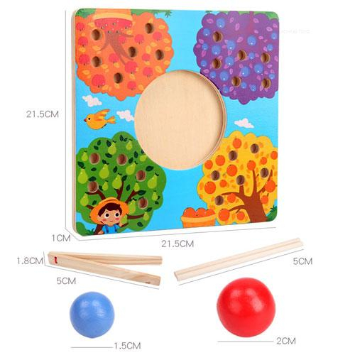 Joc de Lemn Montessori Sortator culori Pomul Fructifer 3