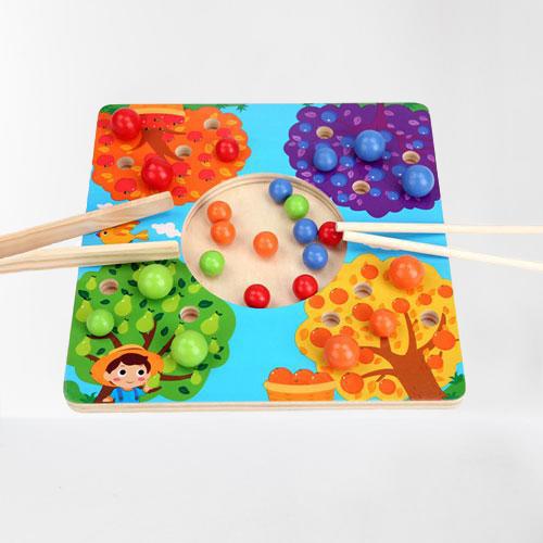 Joc de Lemn Montessori Sortator culori Pomul Fructifer 1