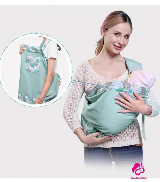 Port Bebe multifunctional Baby Wrap - Marsupiu stil fasa bebe [3]