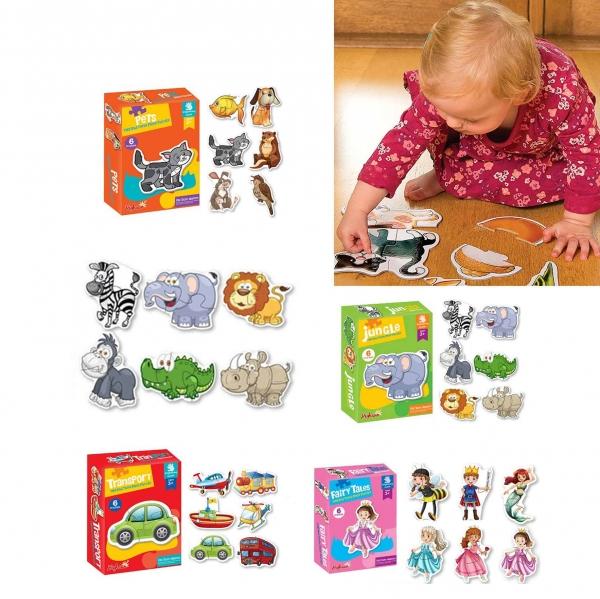 Puzzle bebe animale - Set 4 Cutie Puzzle bebe 3