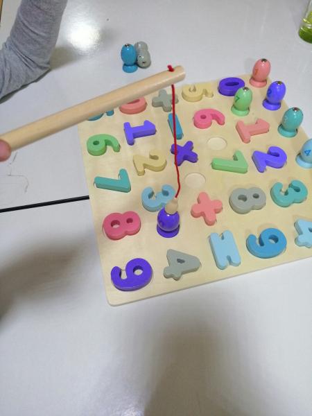 Puzzle din Lemn Cifre si Joc de Pescuit  3D - Joc lemn Puzzle Cifre 2 in 1 7