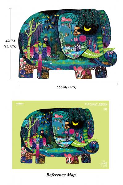 Puzzle educational Mare Elefant mozaic 280 piese Mideer 2